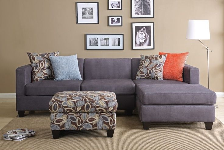 grey couch with chaise! wonder how J would feel about the ...