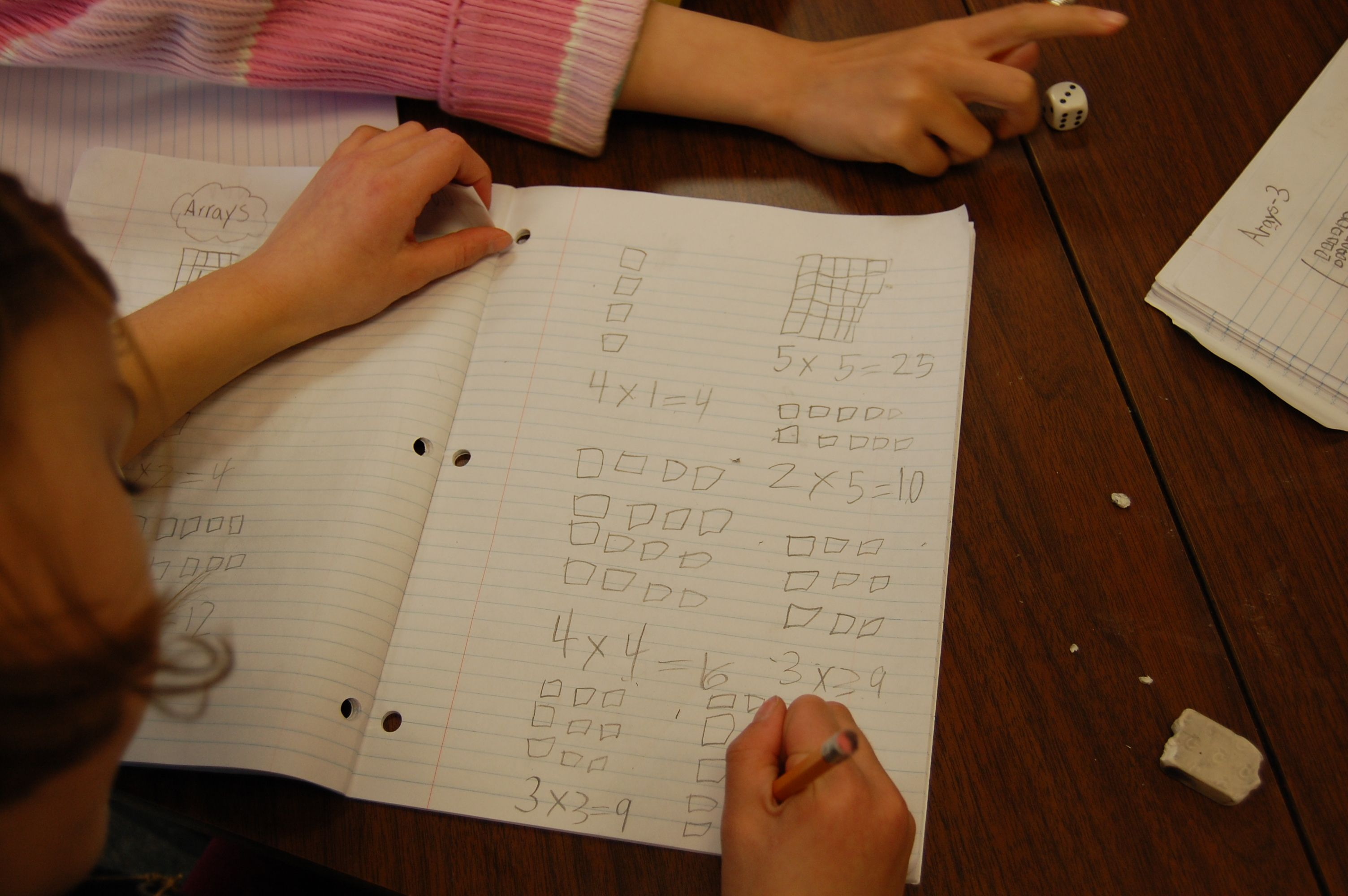Array Game For Teaching Multiplication Roll Two Dice