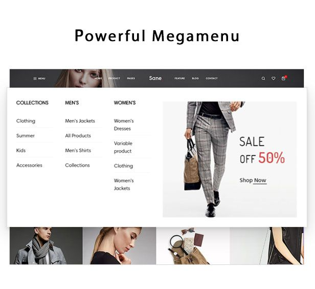 Ap Sane Multi-vendor Prestashop Theme- powerful megamenu