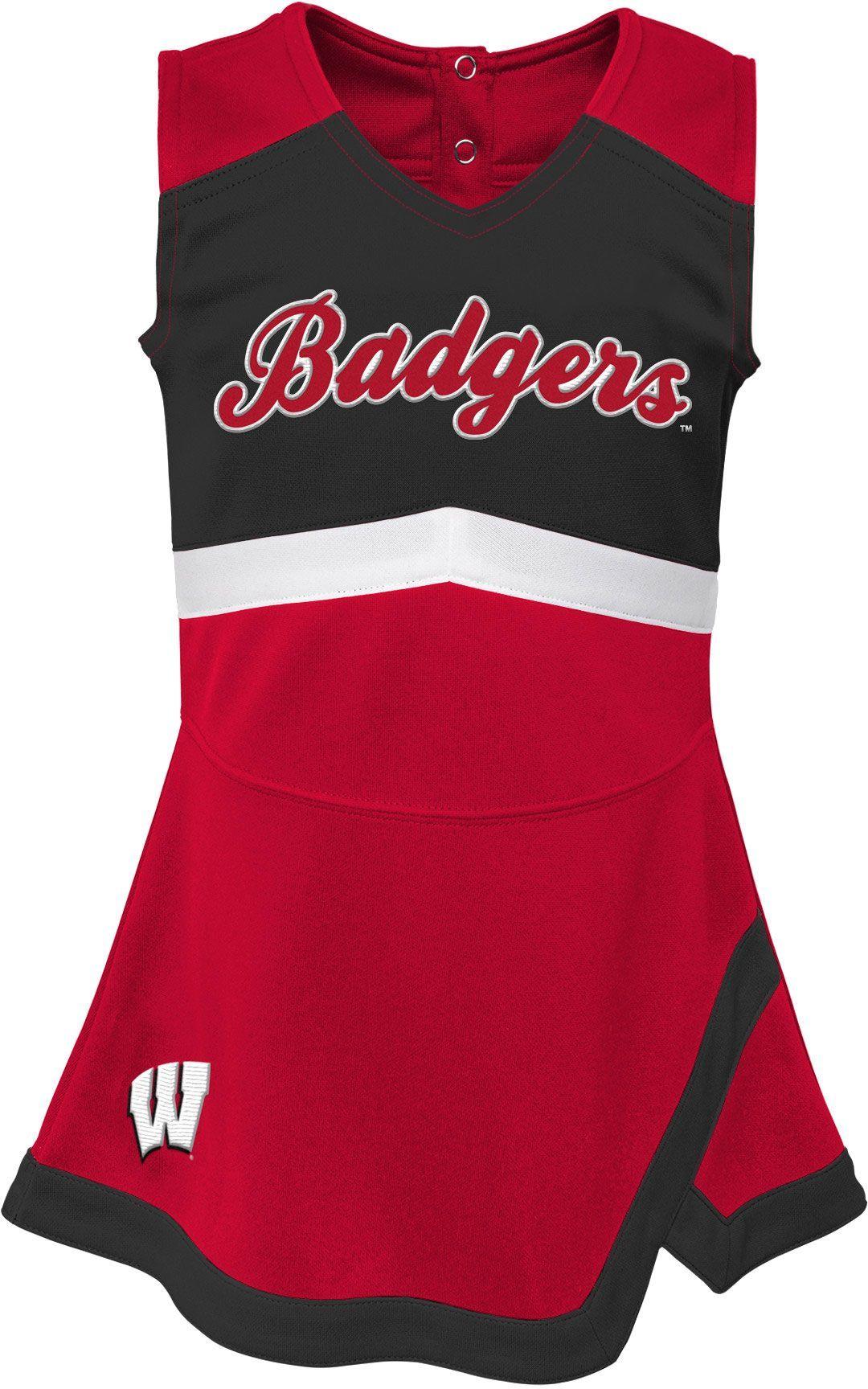 0fdc7048529 Outerstuff Girls' Wisconsin Badgers REd Cheer Captain 2-Piece Jumper Dress