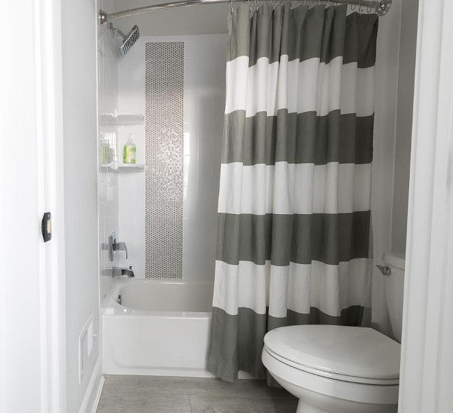 White And Grey Striped Shower Curtain Striped White And Grey