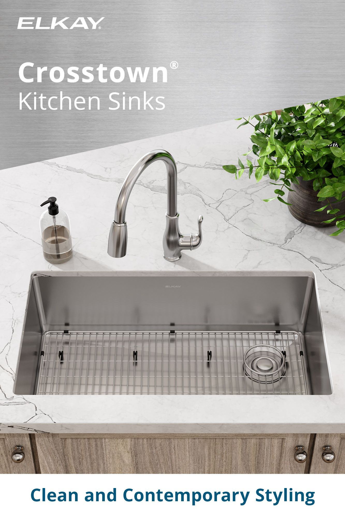 High Quality Crosstown Sinks In 2021 Sink Kitchen Remodel Small Kitchen Space Savers