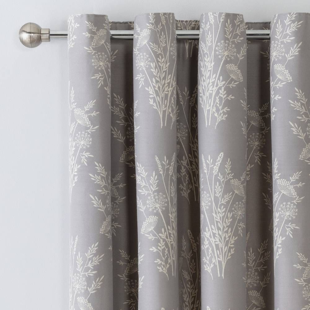 Buy Argos Home Floral Jacquard Lined Eyelet Curtains Grey Curtains Argos Grey Curtains Curtains Grey Curtains Living Room