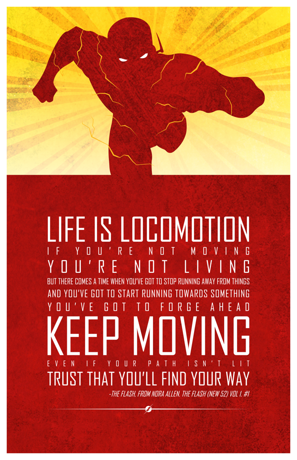 The Flash Quotes These Cut Out Style Posters Show the Inspirational Side of  The Flash Quotes