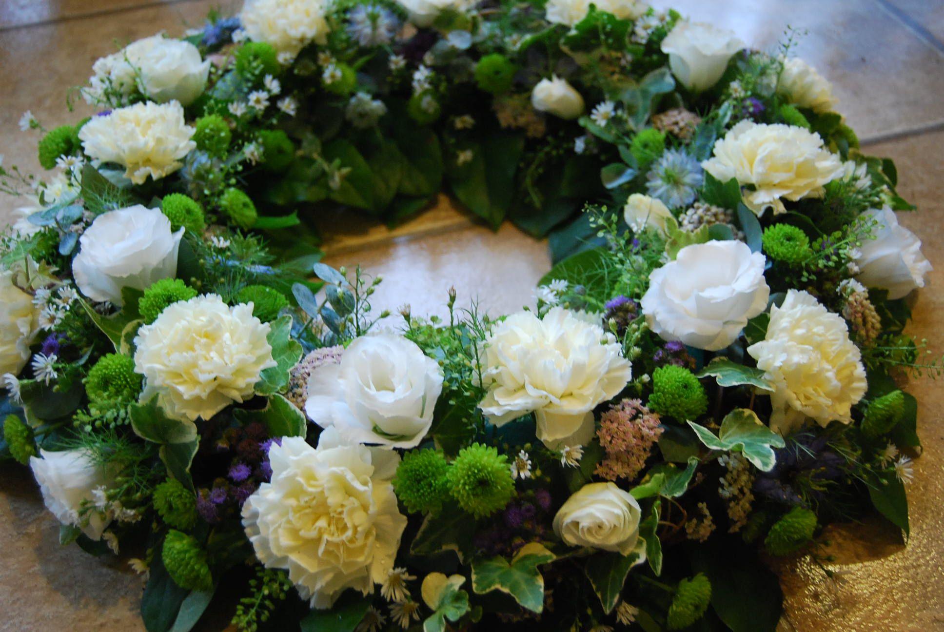 Garden wreath wianki pinterest wreaths funeral and funeral garden wreath izmirmasajfo Images