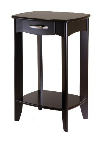 Danica Side Table Length 20 Width 15 98 Embly Required Yes Style Transitional Height 30 Winsome Home