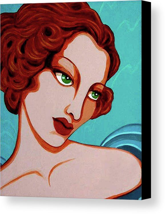 Redhead Canvas Print featuring the painting Lucia by Tara Hutton