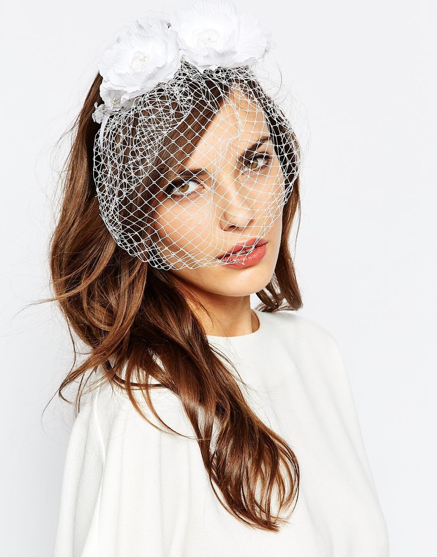 neve+&+eve+wedding+floral+headband+with+netting | bridal hair