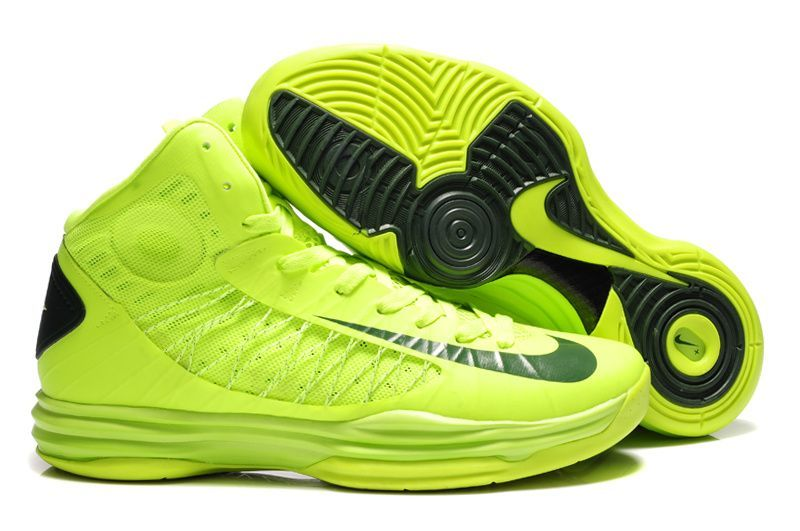 Nike 2013 Womens Lunar Hyperdunk Volt Gorge Green Basketball Shoes