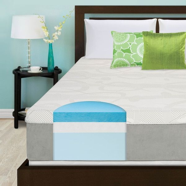 slumber solutions choose your comfort 14inch kingsize gel memory foam mattress