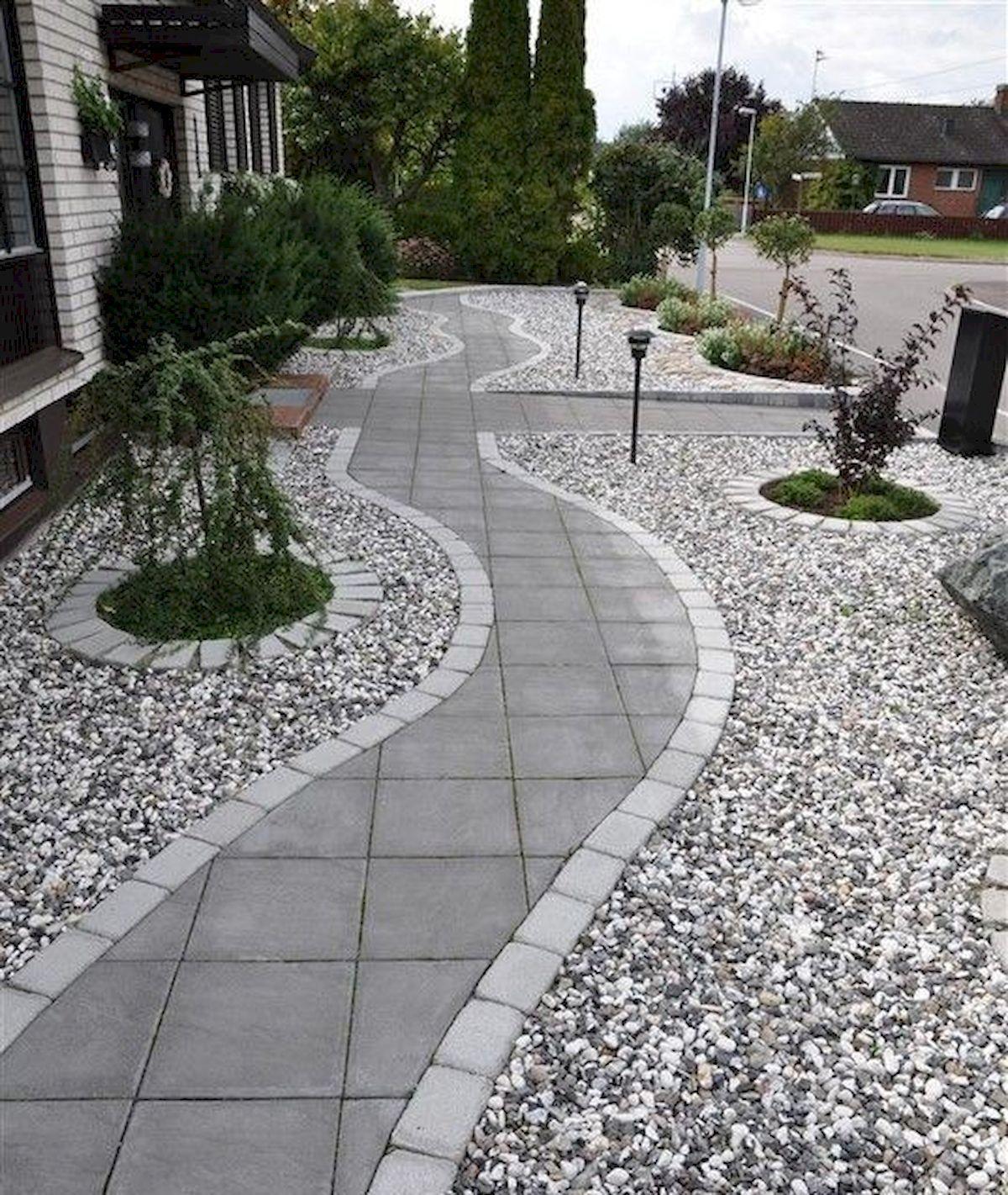 70 Magical Side Yard And Backyard Gravel Garden Design Ideas 6
