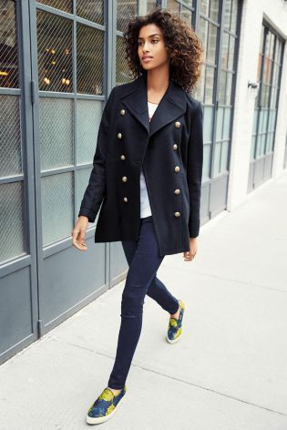Navy Military Peacoat - Next | F*A*S*H*I*O*N | Pinterest | Navy ...