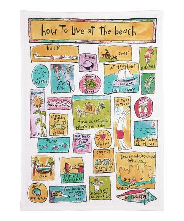 Another great find on #zulily! 'How To Live At The Beach' Kitchen Towel - Set of Two #zulilyfinds
