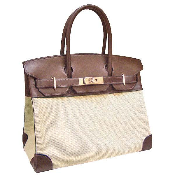 66ce7dbccc7fc ... where can i buy hermes birkin bag 30 white cotton canvas with chocolat  veau swift silver ...