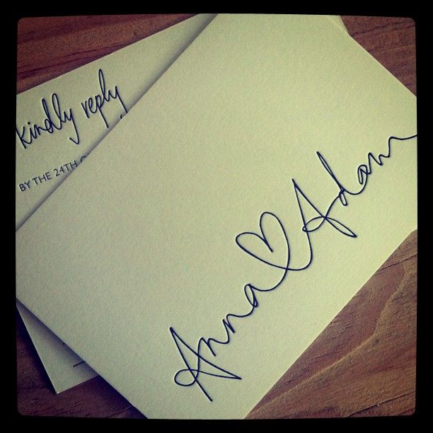 Handwritten Wedding Invitations Envelopes: #letterpress #weddinginvitation #heart #RSVP #postcard