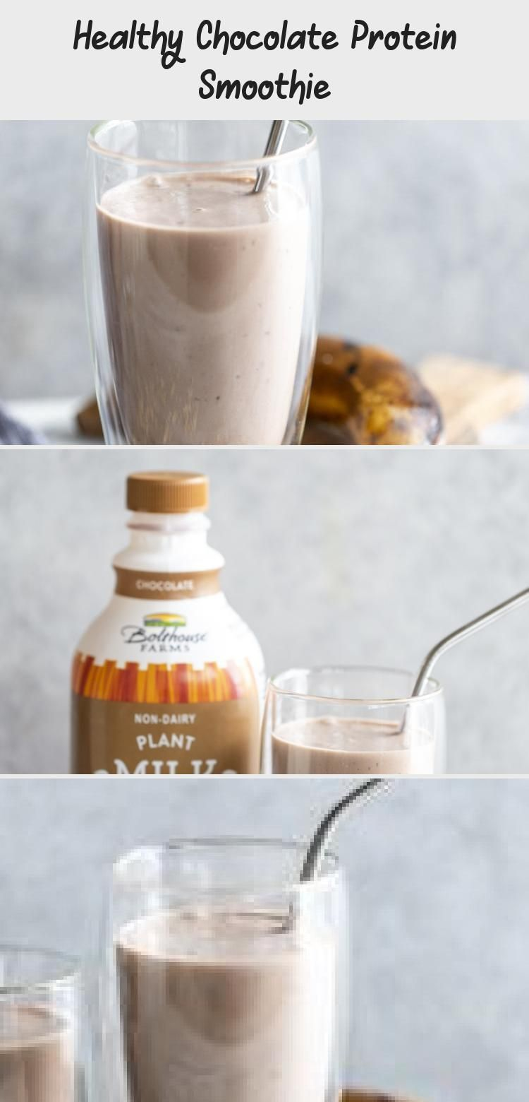 Healthy Chocolate Protein Smoothie #healthychocolateshakes New! Get your chocolate fix with this Healthy Chocolate Shake I made in partnership with @bolthousefarms and @krogerco . This Healthy Chocolate Protein Smoothie has banana, peanut butter, oats, Greek yogurt (or vegan yogurt for a vegan version!)  and plant based protein milk.  This smoothie makes a satisfying snack or meal. @fredmeyerstores #BolthouseFarmsatKroger #Sponsored #CoffeeSmoothie #SmoothieWithAlmondMilk #YogurtSmoothie #BeetSm #healthychocolateshakes