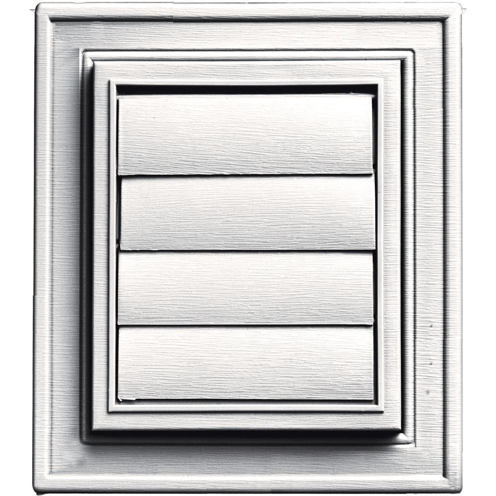 Builders Edge Square Exhaust Siding Vent 117 Bright White 140147079117 Gable Vents Exhausted