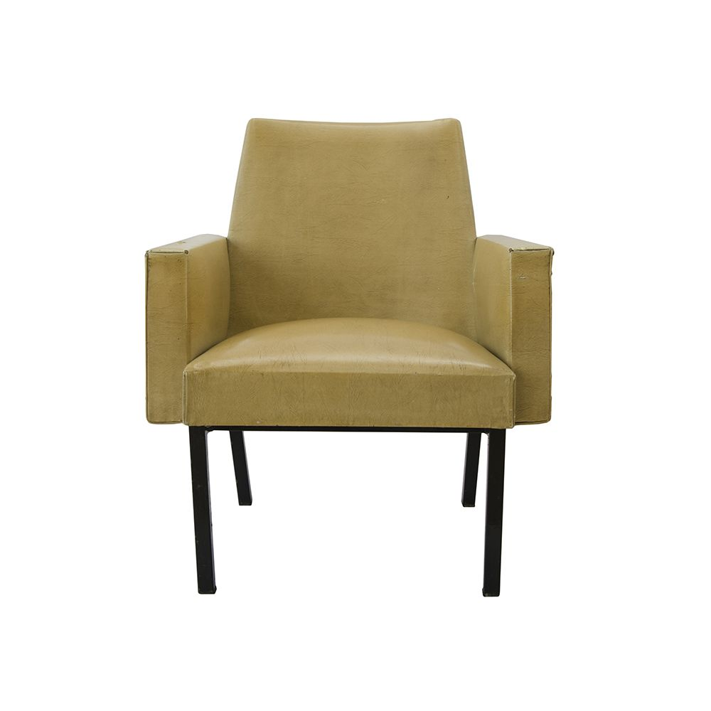 Ersa Armchair This Leather Armchair With Armrests In Cream Was