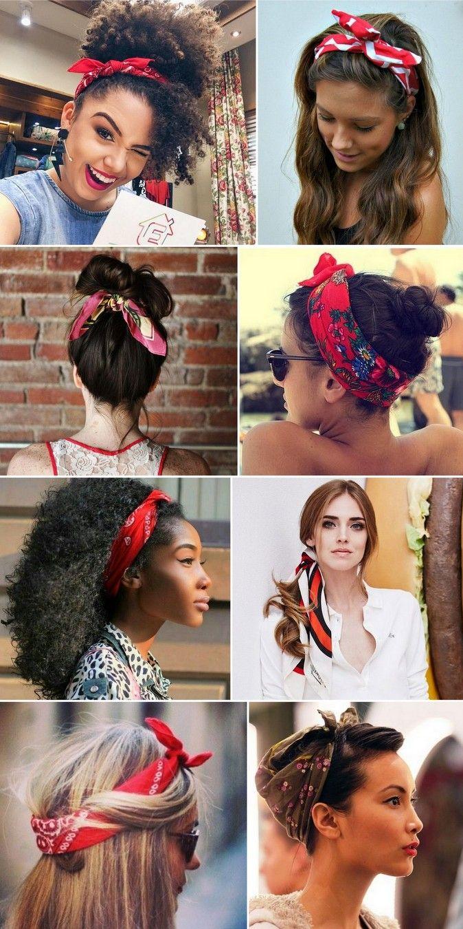 Como usar bandanas na cabeça e no pescoço. Os lenços no penteado são ótimos  aliados para enfrentar o day after e os bad hair days! 62569bba6de