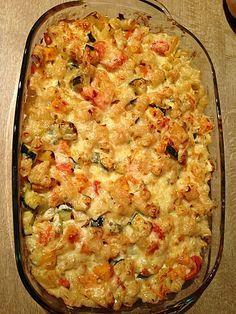 Vegetarischer Nudelauflauf mit Kürbis | Rezept | Ricette di cucina ...