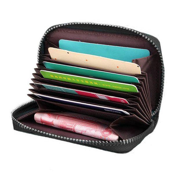 b0c162bfe10b0 Sale 11% (8.41 ) - Women Men 9 Zipper Credit Card Holder Short Business  Wallet Coin Bags