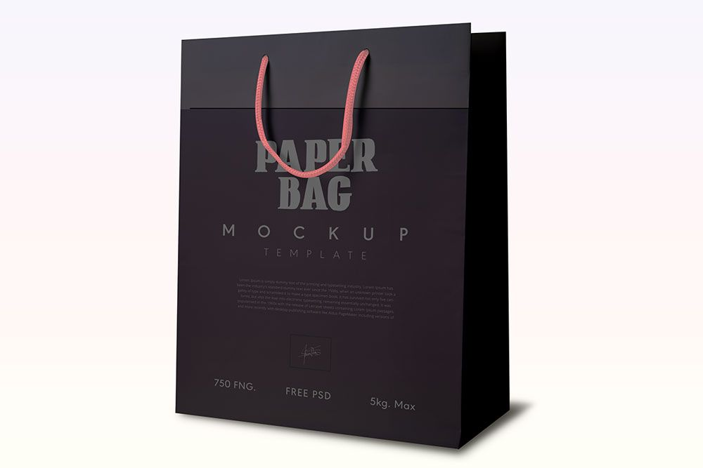 Download Download This Free Reusable Paper Bag Mockup Paper Bag Mockup Bag Mockup Paper Bag Bags