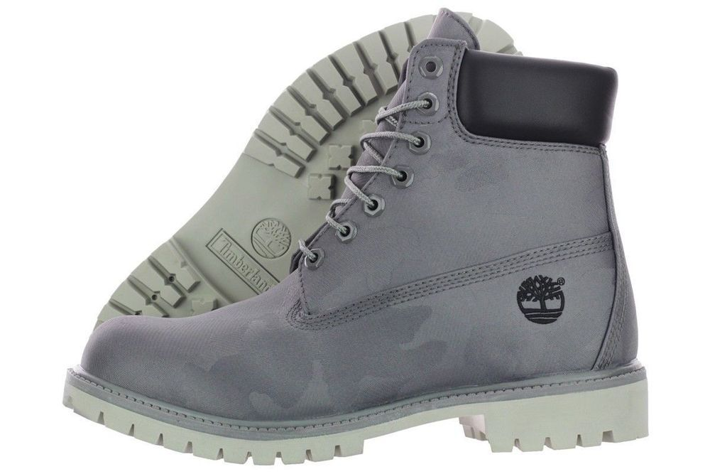 ORIGINAL MENS GREY TIMBERLAND WATERPROOF BOOTS SIZE UK 11.5