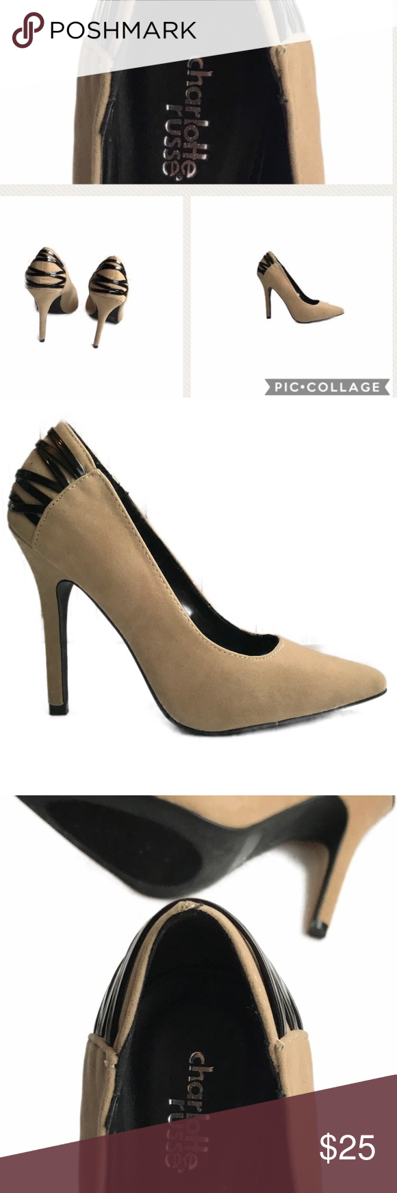 8ccda4f1645 Charlotte Russe Pumps Charlotte Russe Tan Suede Pump. (No shoe box) Pre- Owned and in good condition. (Only worn a few times) Size 8 4 inch heel  Lovely to ...