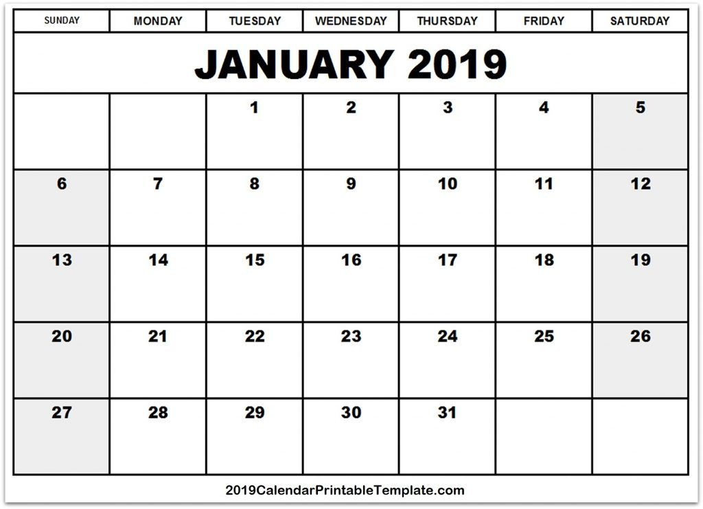 Pin by Sourcetemplate on January 2019 Calendar in 2018 Pinterest
