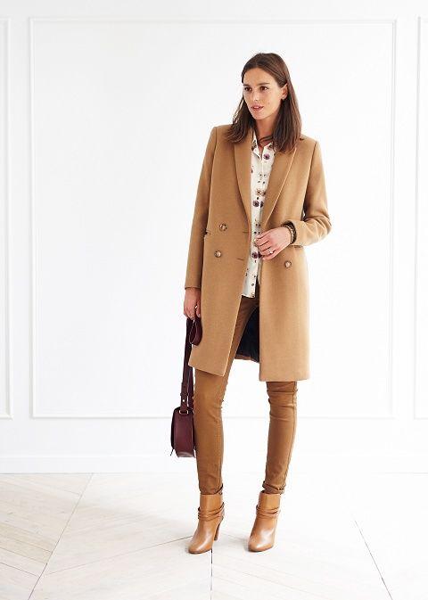 Manteau d'hiver femme camel