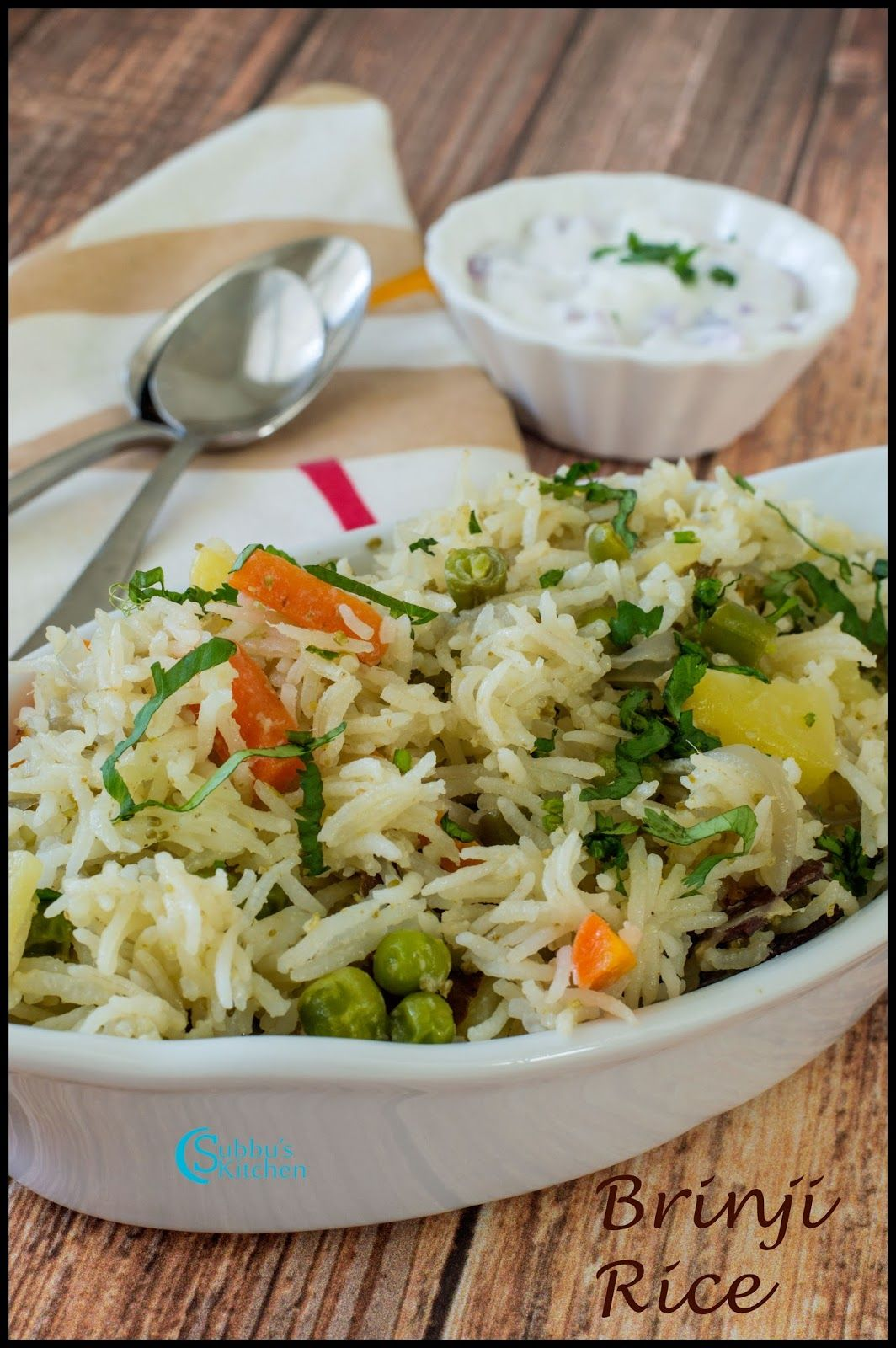 Brinji Rice Recipe   Vegetable Brinji Rice Recipe