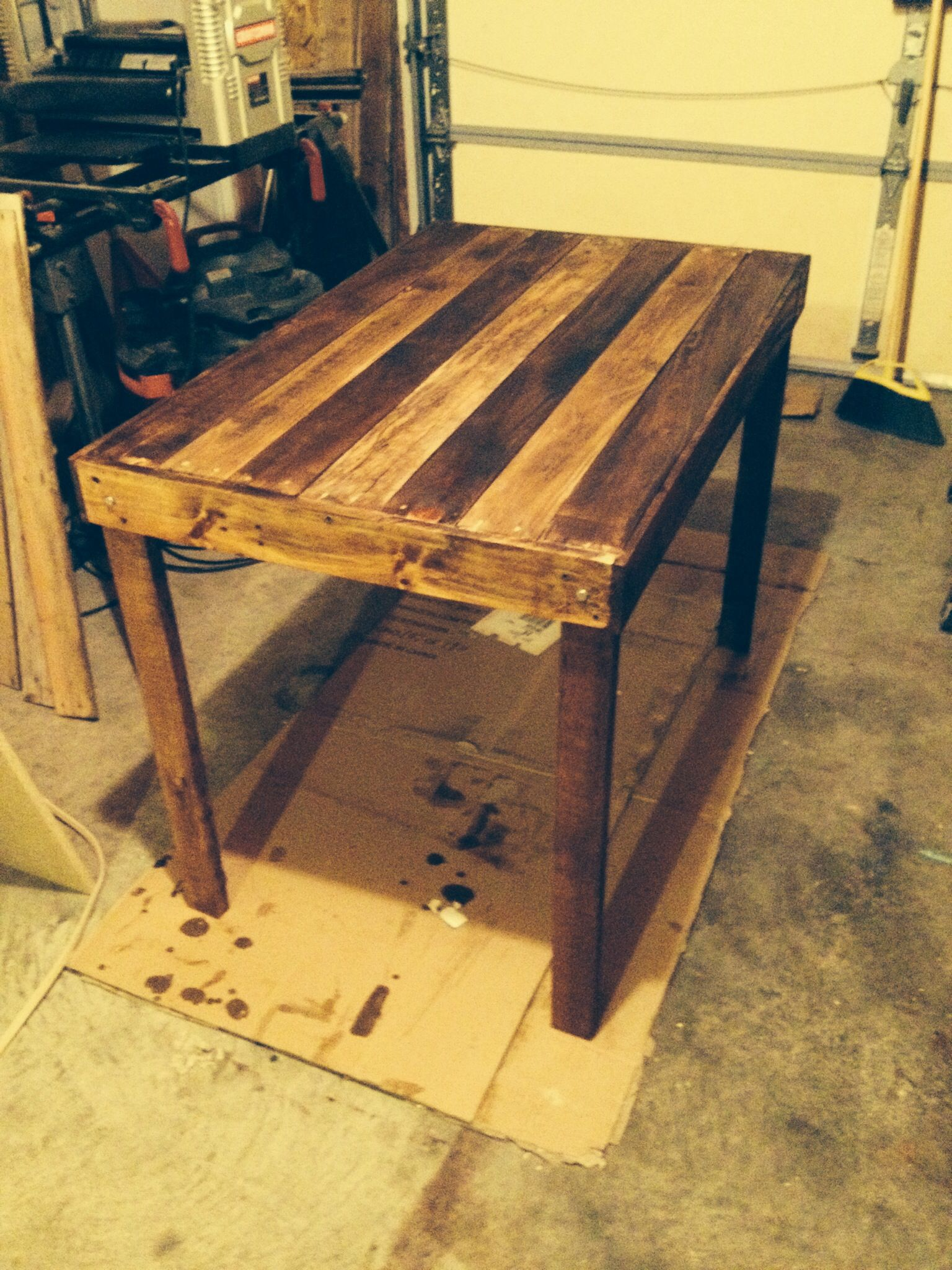 A Small Kitchen Table From Pallets Craftsman Style Kitchens