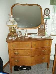 Oak Dresser and Mirror Antique furniture Pinterest