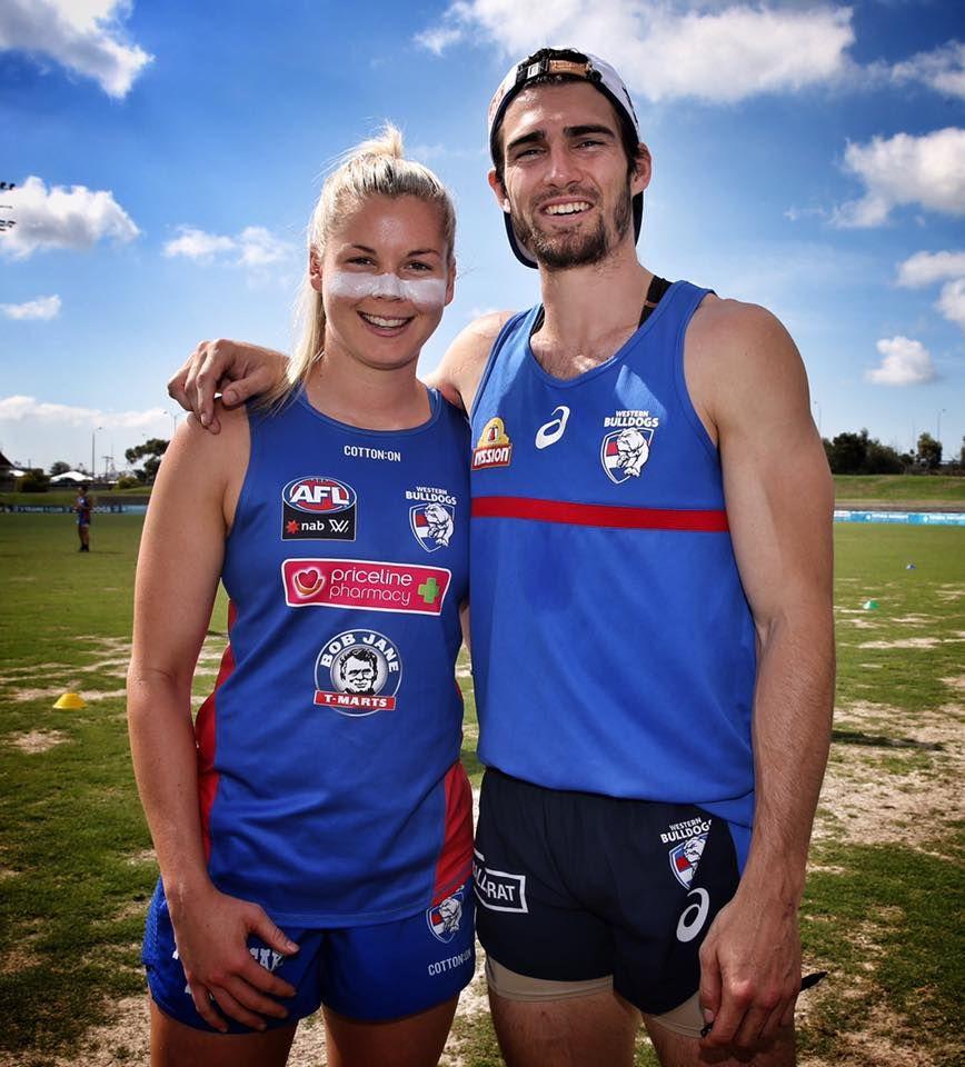 Katie Brennan and Easton Wood Sport man, Footy, Mens tops
