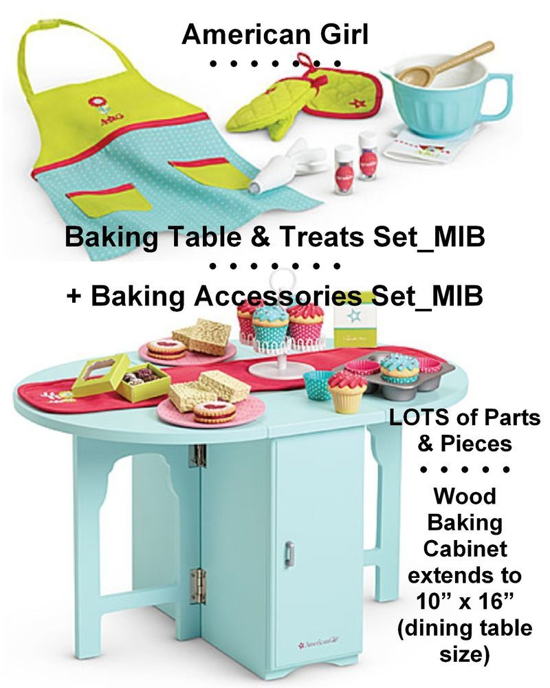 American girl baking table treats accessories lot_2