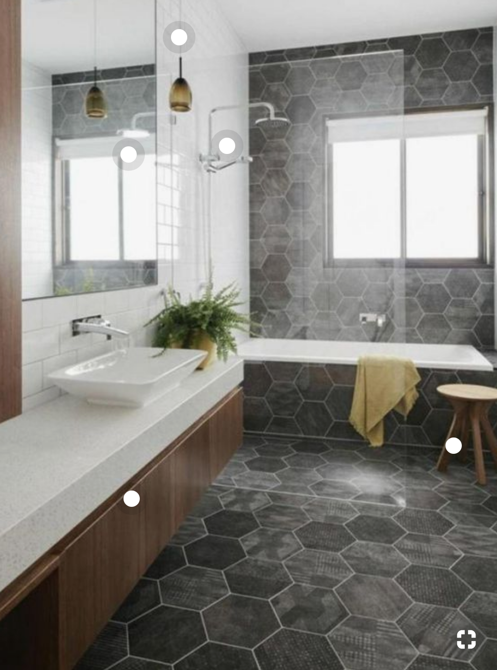 I Like How The Floor Tile Goes Up The Tube And Also Up The Wall Looks Very Linear I L Bathroom Flooring Options Bathroom Design Layout Best Bathroom Flooring
