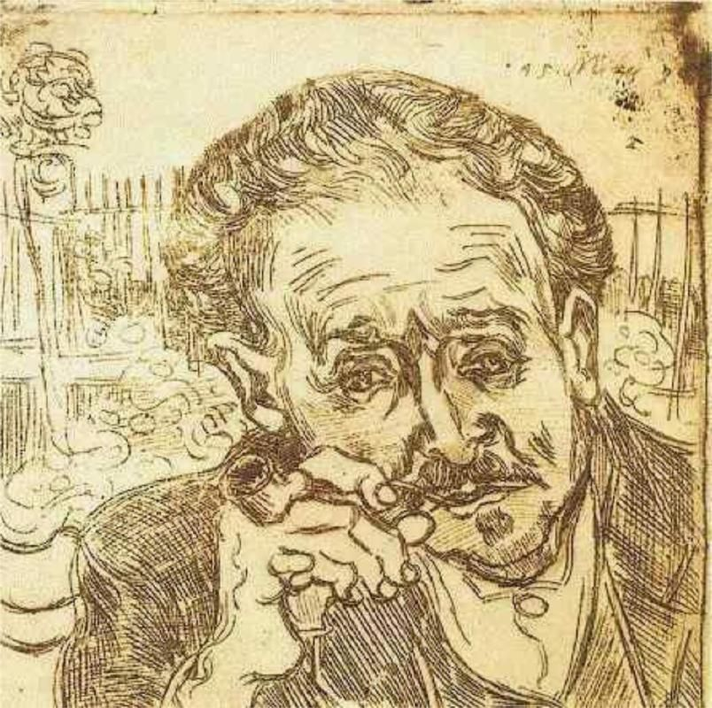 Portrait of Doctor Gachet (A man with pipe), 1890 Vincent van Gogh