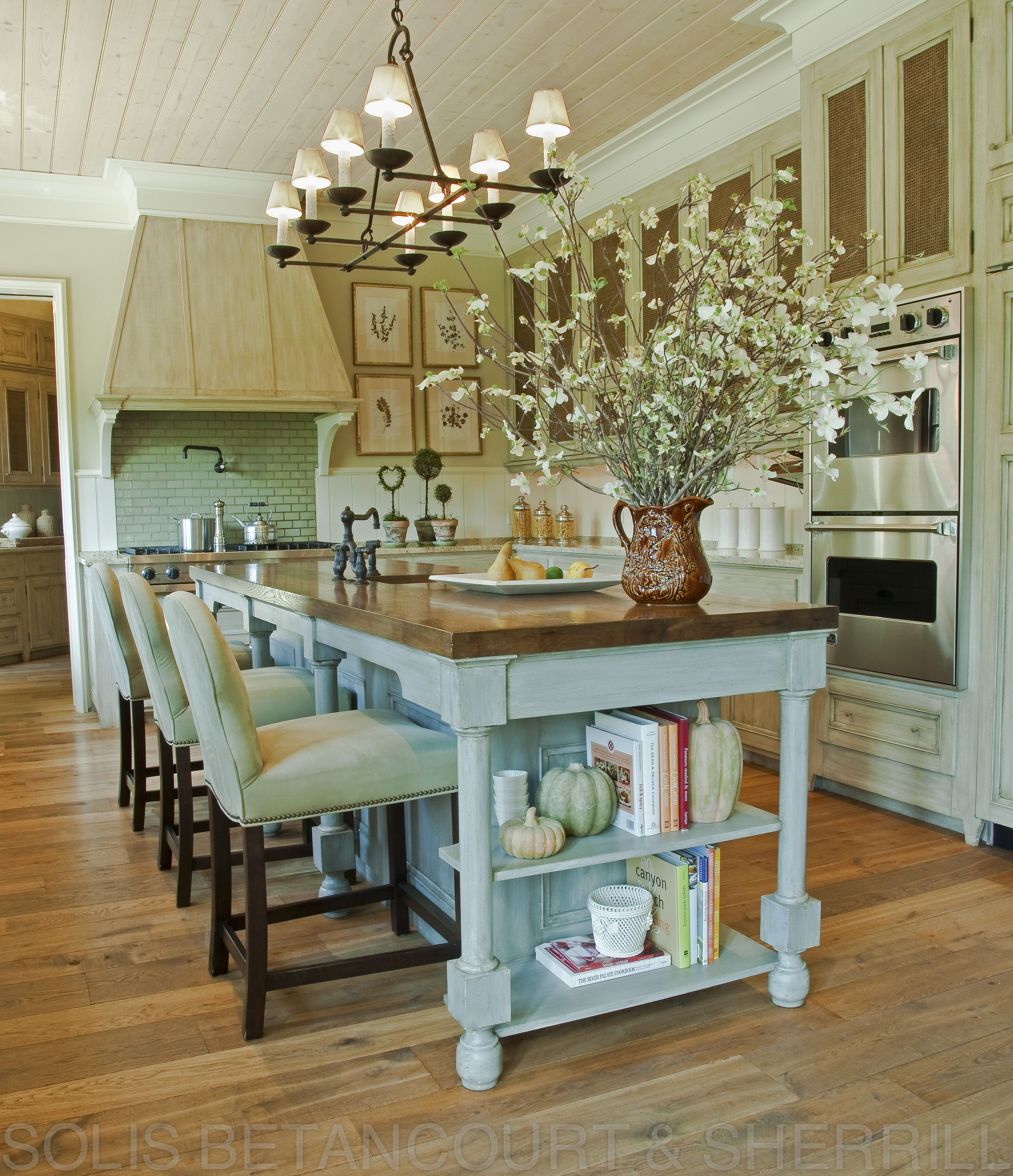 A wonderful kitchen for entertaining family and friends antiqued