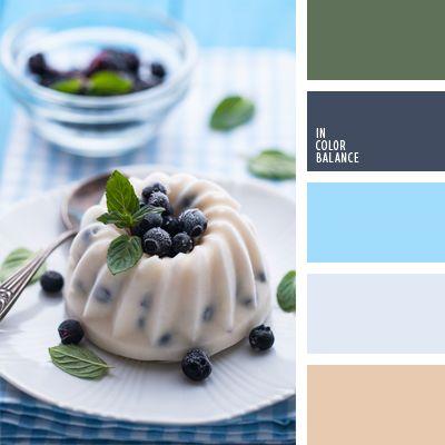 azul celeste, azul claro fuerte, azul de Prusia, azul oscuro pastel, azul turquí, celeste vivo, celeste y azul oscuro, color arándano, color arena, color verde hierba, color verde menta, combinaciones de colores, elección del color, verde.