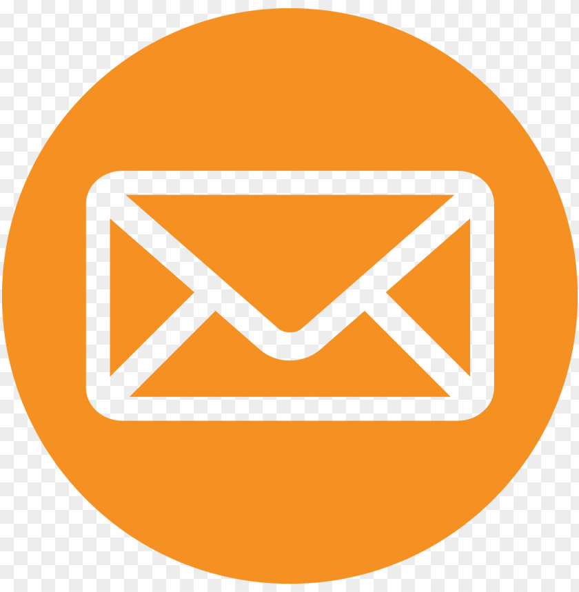 orange transparent email icon red email icons PNG image