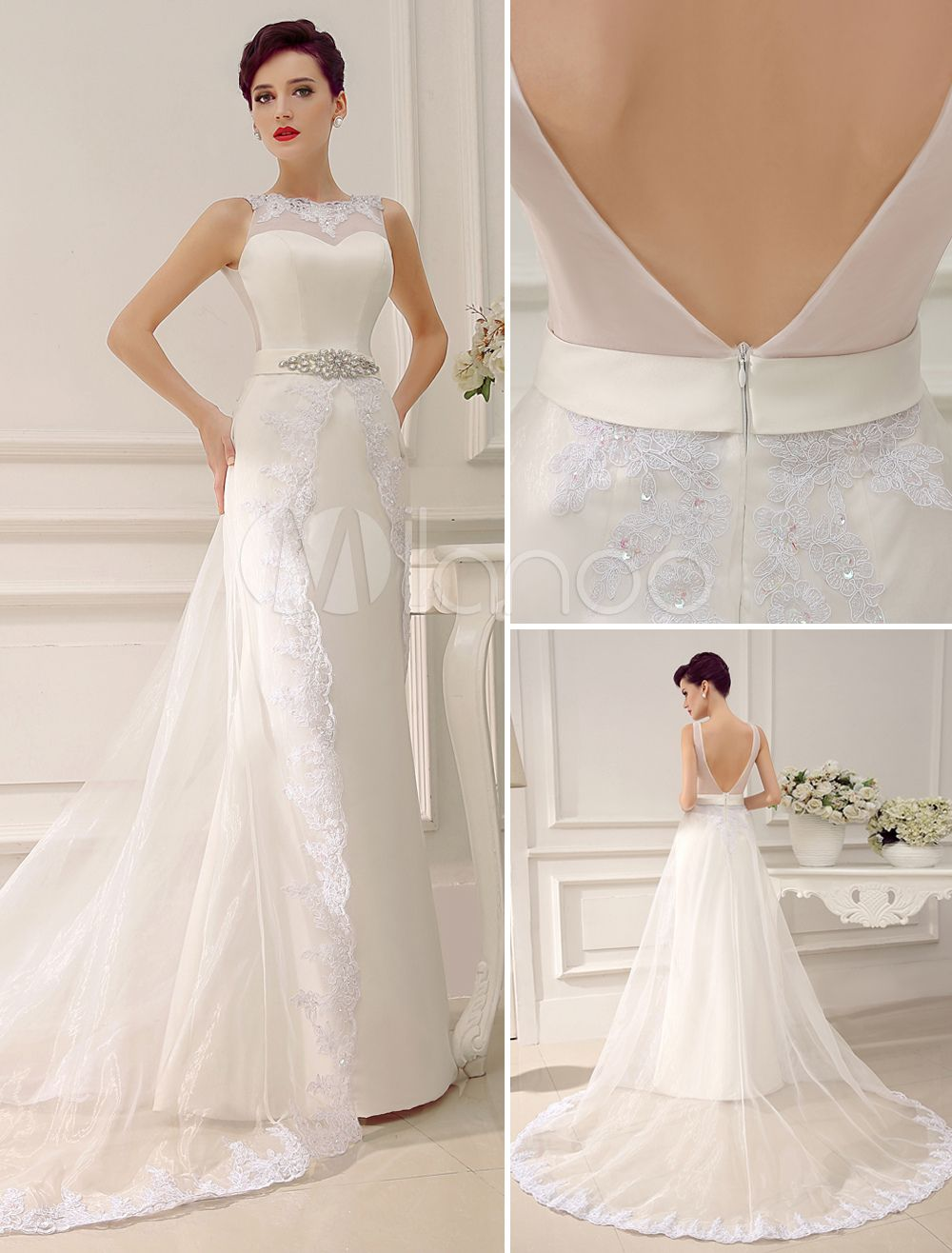 247345f5b vestidos de novia elegantes strapless cola larga - Buscar con Google ...