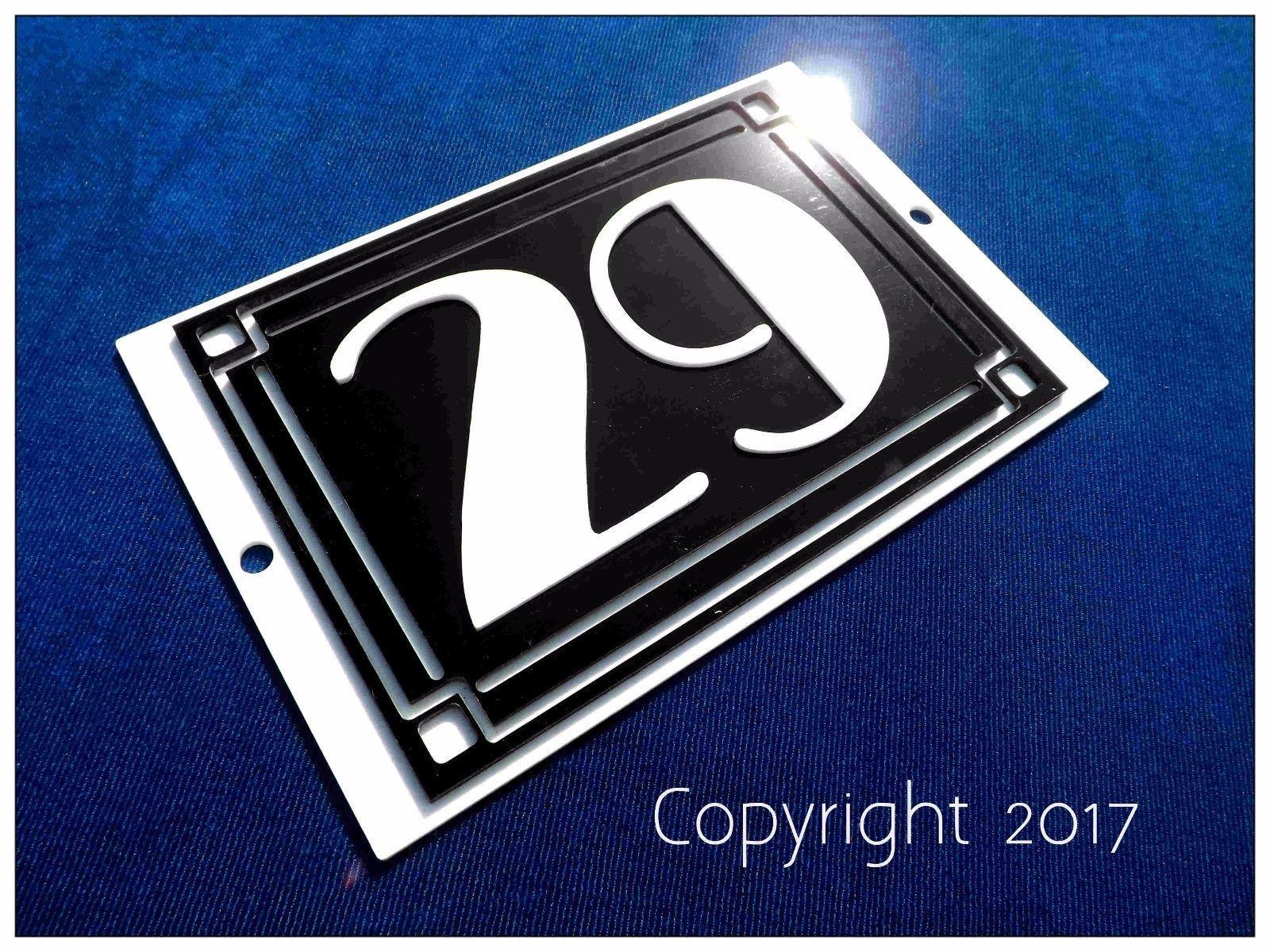 House sign plaque name plate door number art deco style bakelite