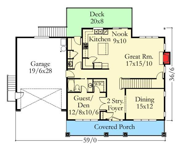 Plan 85041ms Craftsman Home Plan For A Shallow Lot Craftsman House Plans House Plans Craftsman House