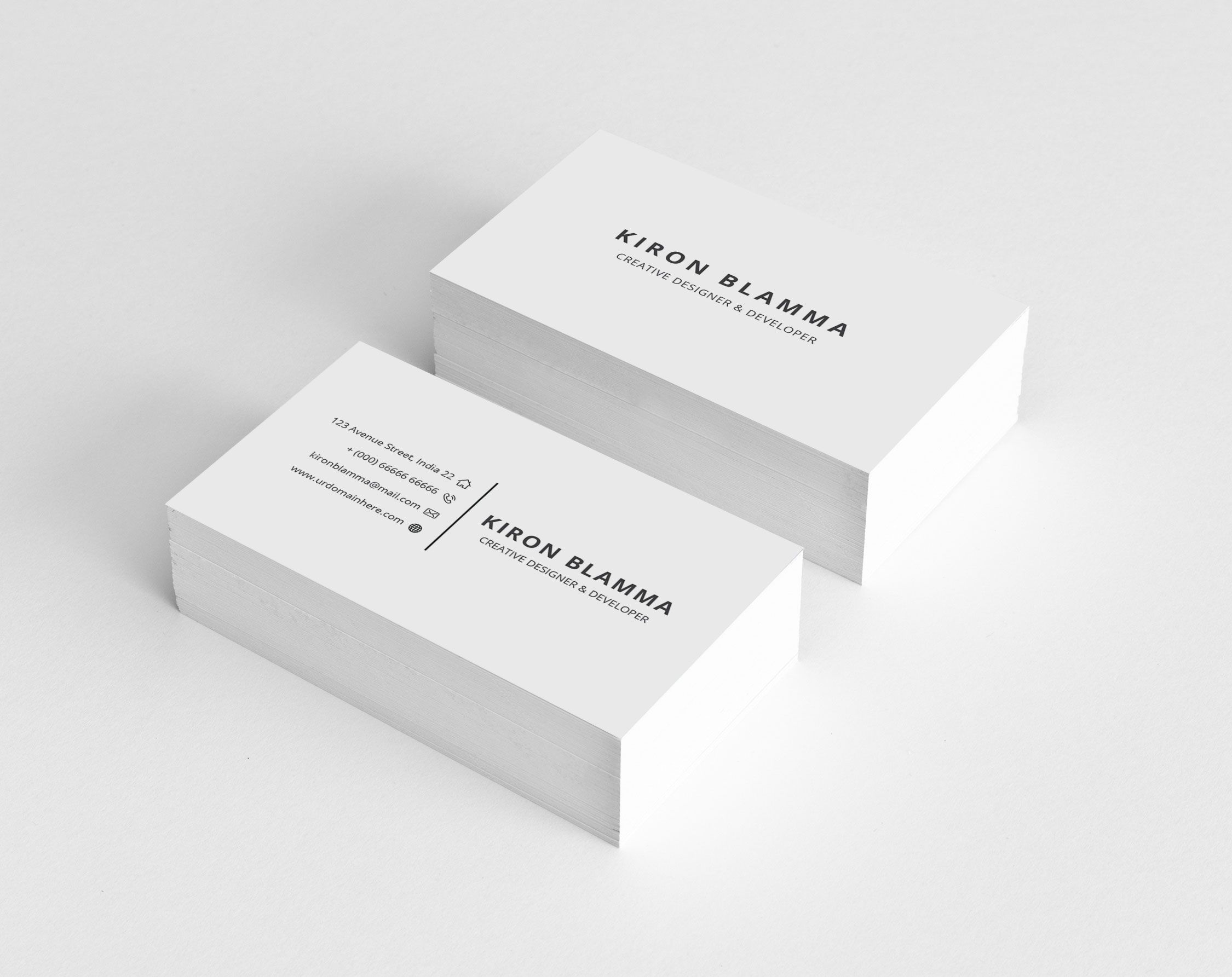 White Classic Business Cards Graphic Templates Classic Business Card Business Card Graphic Business Card Design Simple