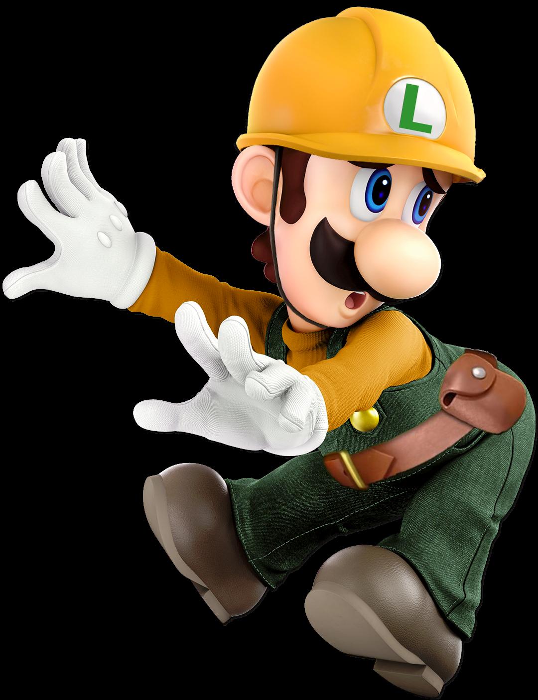 Builder Luigi Super Smash Bros Ultimate By Mariobrosnet On Deviantart Super Mario Art Smash Bros Super Smash Bros