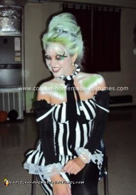 Coolest Homemade Beetlejuice Costume For A Woman Beetlejuice Costume Beetlejuice Food Costumes
