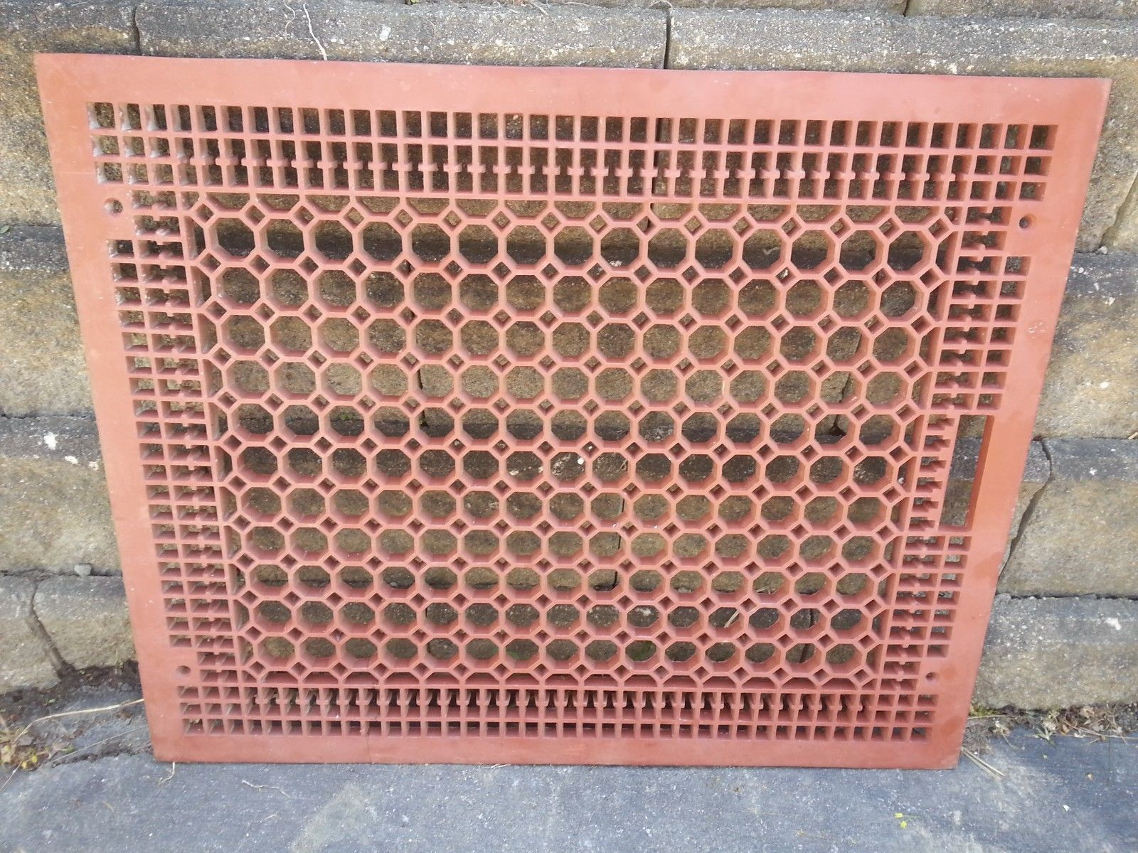 Victorian Cast Iron Floor Grille 32x26 Heat Grate Register Very Large Decorative It Cast Box Fan Cast Iron