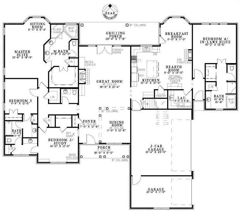 Plan Number: BHG-7108 Stories: 1.5 Total Living Area: 2952
