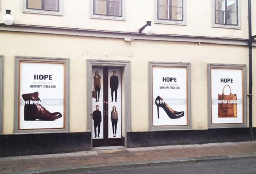 New Hope Shop opens end of August in Brunogallerian, Götgatan 36, Stockholm..