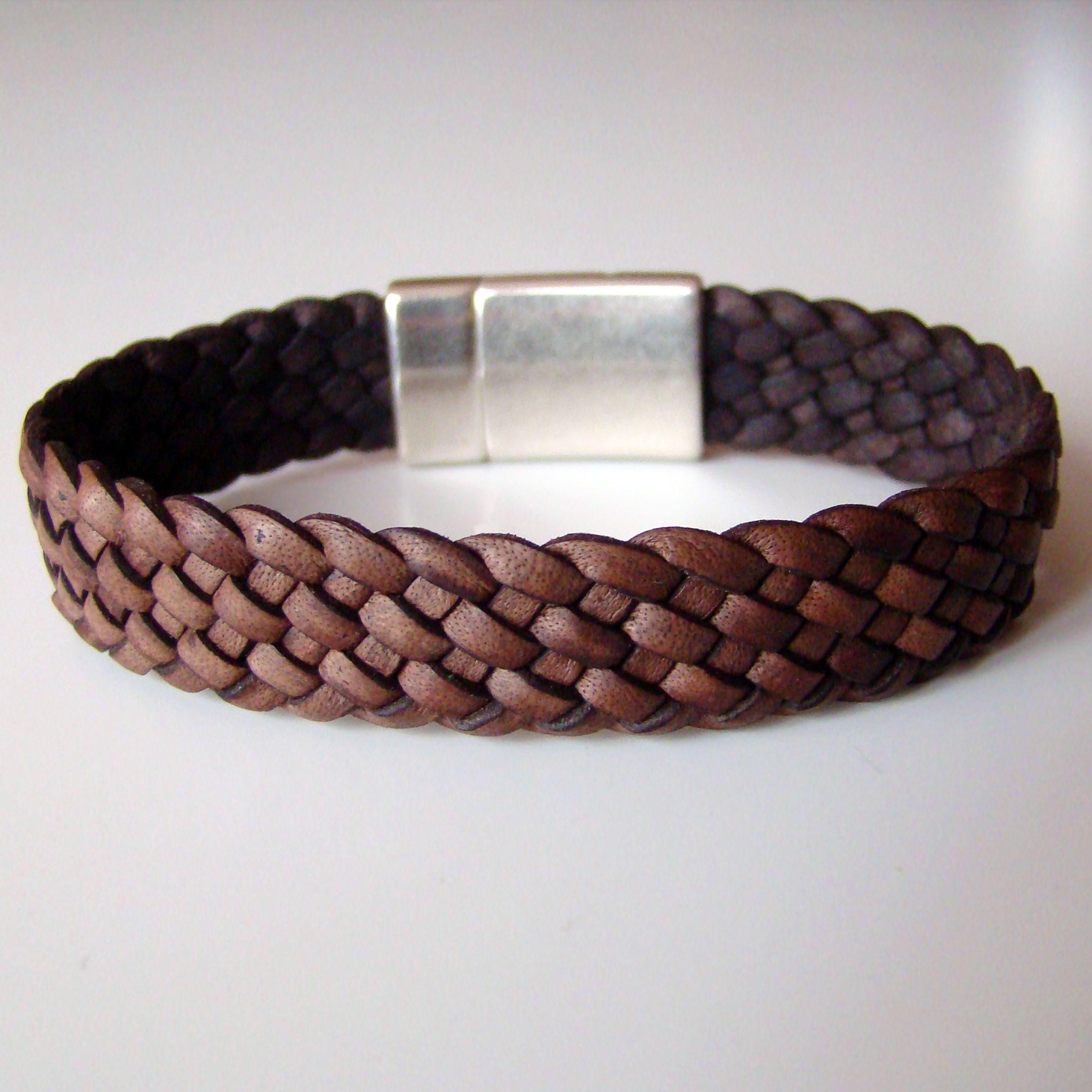 bracelet dandy damier marron antique tress 7 brins fermoir magn tique plaqu argent. Black Bedroom Furniture Sets. Home Design Ideas